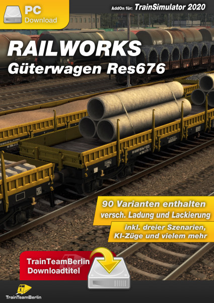 Freight wagon Res676